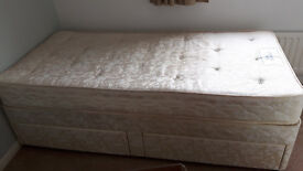 Rest Assured 2 draw single bed divan - Great condition