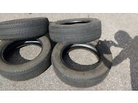 Four 225/60r18 99H Pirelli P6 tyres