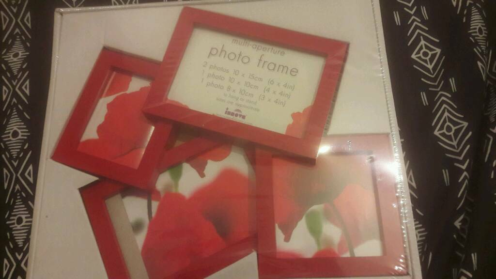 Brand new red photo frame.