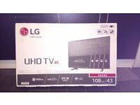 LG 43inch 4k uhd tv (Brand new unopened)