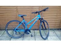 Blue Hybrid Mountain bike