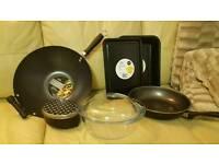 Frying pan, kitchen set