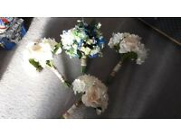 3x artificial bouquets