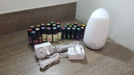 Essential Oil LED Diffuser Humidifier with Set of 27 Essential Oils