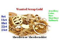 WANTED !!! Scrap Gold, 9ct 18ct 22ct 24ct Jewellery Coins Bars