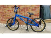 Boys schwinn BMX bike with helmet