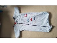 Long sleeved baby sleeping bag
