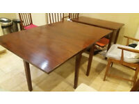 Antique mahogany dining table which seat up to 10