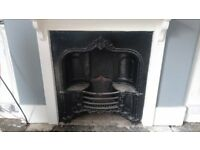 Large Cast Iron Fireplace with unique features