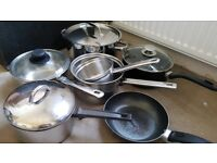 Various Sized Pans