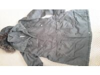 Ladies padded Esprit multipocket hooded coat size 16 but more like 14