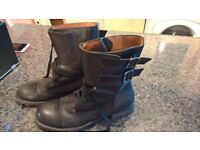 DANIELE ALESSANDRINI MILITARY BOOTS almost new, was £320 only £30!!!!! SIZE 43,5