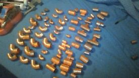 70 X Assorted Copper fittings(new)