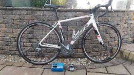 Road Bike Rapide RC1 carbon frame pristine condition, flat pedals and spare inner tube included