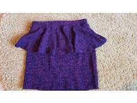 Size 10 peplum Topshop skirt