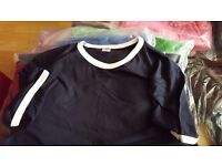 Bankrupt Stock 250 x Plain Tshirts Asst Sizes and colours