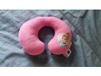 disney kids travel pink cushion