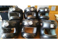 NEW SPECIAL OFFER 6 Synthetic Leather Headguards Black Colors