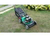 Petrol lawnmower self propelled
