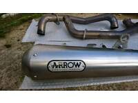Arrow 2 into 1 exhaust system