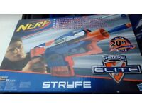 Brand new boxed nerf gun ,motorized semi auto accelertion trigger,quick reload clip,tactical rail