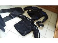 LADIES MOTORCYCLE JACKETS AND TROUSERS