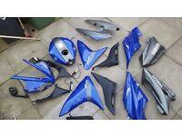 Yamaha YZF R125 Full Fairings Set 08-13 Blue/Grey Fairing/Parts