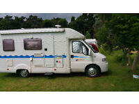 Auto Trail Motor Caravan, Diesel, Sleeps 4, Solar Panel, 2000W inverter, Shower, Samsung TV