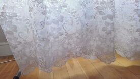 "White Net Curtains - 46"" Drop"