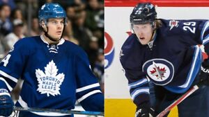 MATTHEWS VS LAINE - Toronto Maple Leafs vs Winnipeg Jets