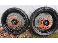 Ktm supermoto wheels 250 400 450 525