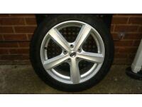 Set of 4 winter tyre & 5 spoke