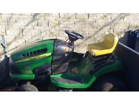 John deere x110 ride on mower garden tractor