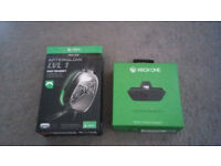 Xbox one headset adapter and headset