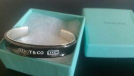 Geniune Tiffany cuff bracelet Sterling Silver