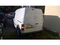ford transit connect t230 lwb high top 2007-07-plate, 1800 cc turbo diesel,126,000 miles