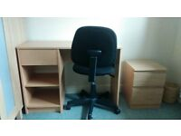 3 x Computer desks with chairs. £25 each