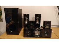 Panasonic Sound system with speakers, subwoofer, blue ray player - Excellent condition