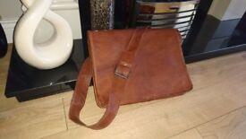 Mens 100% Genuine Goat Leather Shoulder Bag 15 inches wide - £15