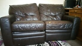 Reclining Leather Sofa for Free