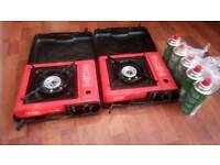 Camping gas stoves and 6 gas