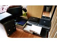 x24 LAPTOP + x2 DESKTOP PCs JOB LOT - BOOT TO BIOS (Spares repair) + RAM + x2 MONITORS + x3 XBOX 360