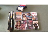 VHS tapes, around 20 tapes including Indian movies &songs, English movies