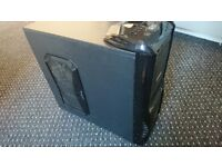 Gaming PC case with side + back fans BARGAIN