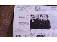 Price drip, only £125 per ticket.Amazing U2 seats together 2 x seated tickets twickenham
