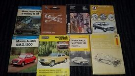 About 30 Haynes manuals, Autobooks and Autodata books