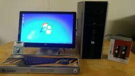 Fast SSD HP 8000 Elite Business PC Desktop Computer & 20 inch LCD