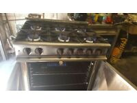 COMMERCIAL MASTER CHEF 6-RING COOKER OVEN NATURAL GAS FREE STANDING