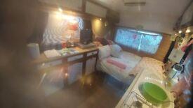 Static campervan/motorhome for rent £330 pcm... garden, shower, toilet facilities, bbq, firepit