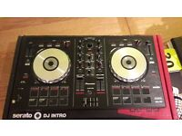 Pioneer DJ-SB DJ controller with M-AUDIO AV30 multi-media monitor speakers.Serato Dj intro included